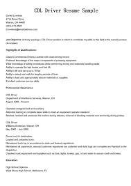 resume samples for truck drivers   truck driver resume samples    cdl truck driver resume example
