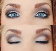natural smokey eye for blue eyes