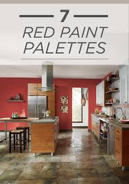 Red Tile Paint For Kitchens Behr Paint In Raging Bull Red Creates A Spicy Backdrop To Your