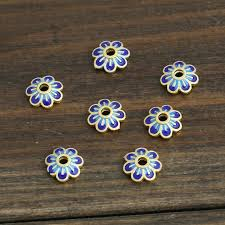5 pcs / 10 pcs <b>s925 sterling silver copper</b> flower shape torus   Etsy