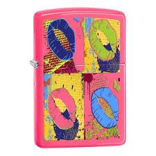 <b>Зажигалка ZIPPO Classic с</b> покрытием Neon Pink, розовая ...