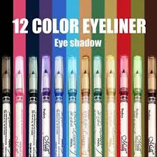 <b>12 Color Eyeliner Waterproof</b> Not Blooming Flash Lip Pencil Eye ...