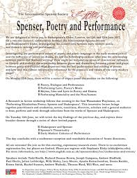 spenser poetry and performance shakespeare in spenser poetry and performance 12 13 2017 shakespeare in