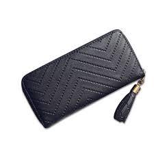 women lady <b>tassel pu leather</b> clutch wallet long card holder case ...