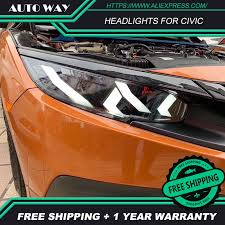 <b>Car Styling tail lights</b> case for Honda CIVIC headlights G10 MK10 ...