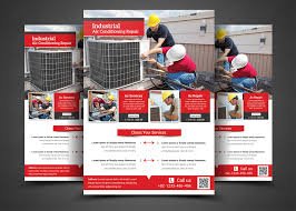 air conditioning repair flyer flyer templates on creative market