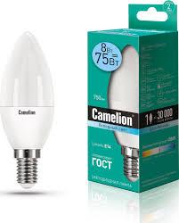 <b>Camelion LED8</b>-<b>C35</b>/<b>845</b>/E14 (Эл.<b>лампа светодиодная</b> 8Вт 220В ...