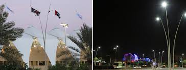 project for the new led street lighting in yas marina abu dhabi with italo street aec eco lighting