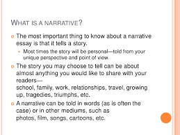 Narrative essay presentation II SlideShare