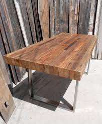 table rustic wood design home
