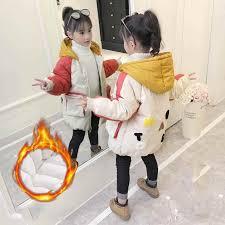 2019 <b>Autumn Winter</b> New Children <b>Girls Woolen</b> Hooded Outerwear ...