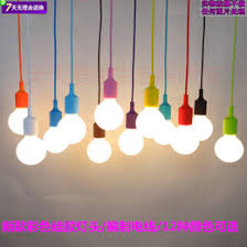 wholesale 100cm cord socket chandelier lamp led light fixture hanging color line silicone e27 pendant mini cheap chandelier lamp no bulb cheap modern lighting fixtures