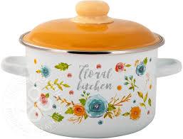 Купить <b>Кастрюля</b> Appetite Floral kitchen <b>эмалированная 5.5л</b> с ...