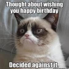 birthday memes on Pinterest   Happy Birthday Meme, Grumpy Cat ... via Relatably.com