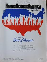 hands across america 25 1986 piano vocal chords sung by hands across america 25 1986 piano vocal chords sung by the voices of america marc blatte john carney larry gottlieb amazon com books