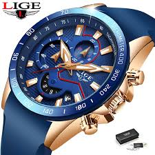 2020 HOT SALES LIGE <b>Fashion Sport</b> Waterproof Quartz <b>Mens</b> Top ...