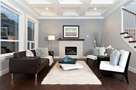 dark brown couch accents of white light blue interior blue walls brown furniture