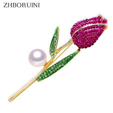 2019 Hair Jewelry <b>ZHBORUINI 2019 New</b> Natural Brooch Rose ...