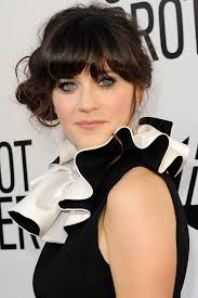 Cute Bun hairstyle Zooey is one of the pictures from the article that discussed about Zooey Deschanel Hairstyle! – Celebrity Hairstyle and it posted on ... - Cute-Bun-hairstyle-Zooey