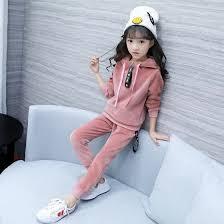 2018 new winter korean version childrens gold velvet down clothing girls medium length and heavy coat