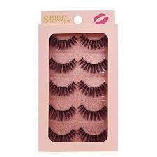 Generic <b>SHIDISHANGPIN</b> 5 <b>pairs mink</b> eyelashes natural long 3d ...