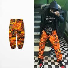 Оранжевые <b>камуфляжные</b> штаны, <b>мужские и женские</b> ...