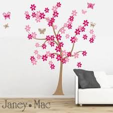 Children's <b>Flower Tree Wall</b> Decal with Butterflies - Daisy Flowers ...