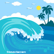 Image result for beach waves clipart