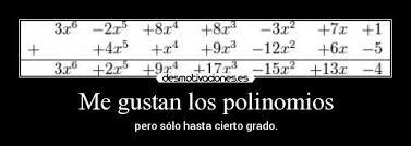 Resultado de imagen de chiste polinomios