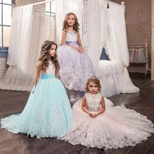 <b>Elegant Purple Ball Gown</b> for Flower Girls Princess Girls Long Prom ...