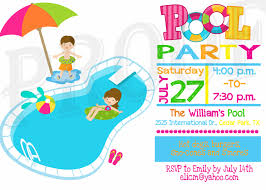 pool party invitation template printable com printable birthday pool party invitations templates