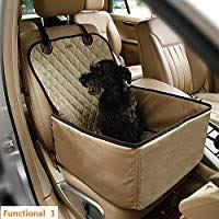 Bailuoni 2 in 1 <b>Foldable Waterproof Pet Car</b> Back Seat Cover Cat ...