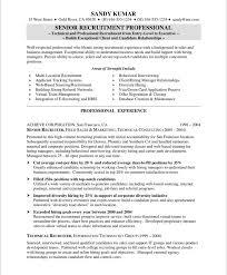 hrrecruiter free resume samples blue sky resumes old version old version nurse recruiter resume