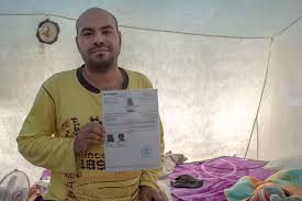 photo essay continually displaced palestinian refugees spend aldadeedi born in holds the documents showing his palestinian refugee status nakba which nakba my whole life has been a string of catastrophes