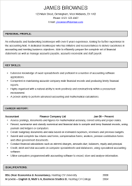 bookkeeper cv example and template bookkeeper resume examples