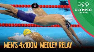 Michael Phelps Last Olympic Race - Swimming <b>Men's</b> 4x100m ...
