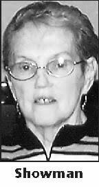 "CHRISTINE ""CHRIS"" C. SHOWMAN, 71, of New Haven, formerly of Elkhart, ... - 0000945140_01_10302011_1"