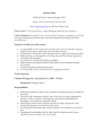 mortgage broker and resume sample real estate resume sample mortgage broker resume