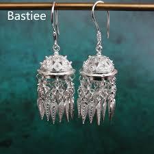 <b>Bastiee Mongolian hat</b> 999 Sterling Silver Tassel Earrings For ...