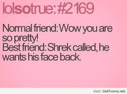 My opinion about normal friend and a best friend - Funny Pictures ... via Relatably.com