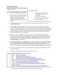 resume of lonnie mcrorey international  s marketing product manag…    strategy    current experienceglobal product manager
