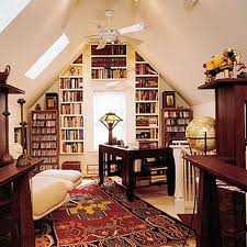 formal attic home office attic office ideas