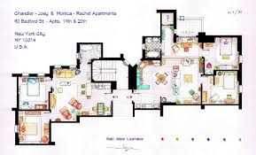 The Top Best Blogs on Sheldon cooper    Artsy Architectural Apartment Floor Plans From TV Shows   Pics