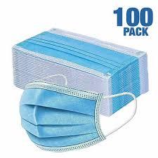 <b>100 PCS</b> FACE <b>Mask</b> Medical Surgical Dental <b>Disposable 3</b>-Ply ...