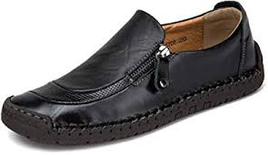 Phefee Men's <b>Casual Shoes Slip</b> On Moccasins Hand Stitching ...