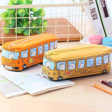 2019 <b>Novelty Animals School Bus</b> Shape Canvas Pencil Case ...