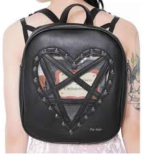 <b>JIEROTYX</b> Anti theft Backpack Women Waterproof <b>Punk Gothic</b> ...