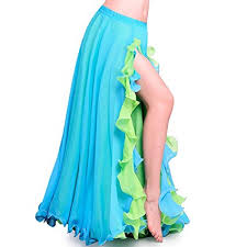 ROYAL SMEELA Women' s <b>Belly Dance</b> Skirt Clothing <b>Chiffon</b> Slit ...