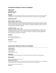 cover letter  objective of resume for freshers resume template        objective of resume for freshers for mechanical engineer resume template with automotive mechanic