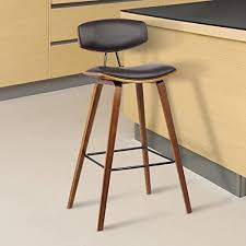 Armen Living Fox Faux Leather Kitchen Barstool with ... - Amazon.com